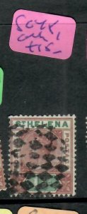 ST HELENA  (PP1305B)  QV  1 1/2D  SG 48   CORK #1   VFU