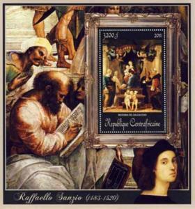 Central Africa - Raphael, Madonna Canopy - Souvenir Sheet - 3H-073