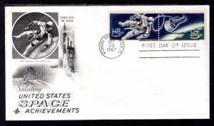 US 1331a Space Artcraft Label FDC