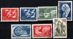 Finland #343-9  F-VF Used CV $8.90  (X621)