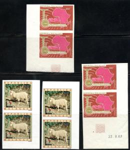 MALAGASY LOT OF IMPERFORATED STAMPS MINT NEVER HINGED AS SHOWN
