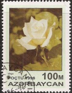 Azerbaijan 599 - Cto - 100m White Rose, Virgo (1996) (cv $0.30) (1)