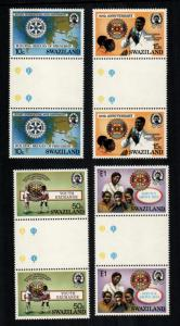 Swaziland  471 - 474 gutter pairs   MNH cat $ 16.00 aaa