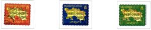 Jersey Sc 1481-3 2010 Map & Lions stamp set used