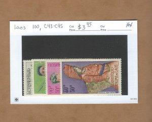 Laos 100, C43-C45  MNH