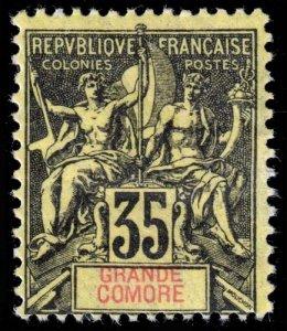 Grand Comoro - Scott 13 - Mint-Hinged - Poor Centering