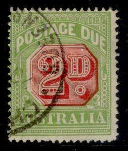 AUSTRALIA GVI SG D114, 2d carmine & green, FINE USED.