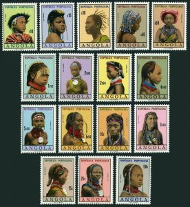 Angola 419-432B,hinged.Michel 425-440. Portraits of various women,1961.