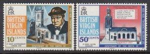 Virgin Islands 278-9 Churchill mnh