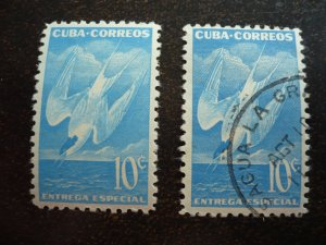 Stamps - Cuba - Scott# E18 -Mint Hinged & Used Single Stamps