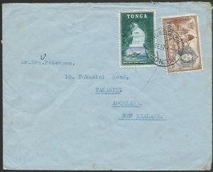 TONGA 1957 4d rate cover, Nuku'alofa to New Zealand........................83573
