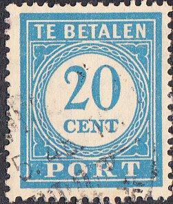 Netherlands Indies #J53  Used