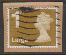 GB QE II Machin SG U2972 - 1st Large Gold  - MA10 - Source  F