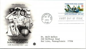 United States Naval Academy 150th Anniversary First Day Cover 1995 cachet