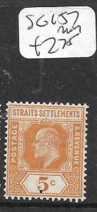 MALAYA STRAITS SETTLEMENTS (P0605B)  KE 5C  SG 157   MOG