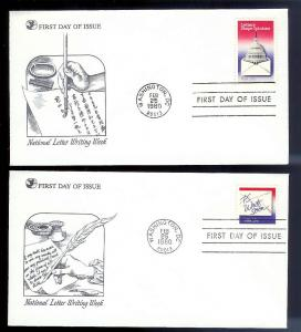 UNITED STATES FDCs (6) Letter Writing 1980 Readers Digest