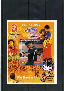 Sao Tome & Principe 2004 Table Tennis Chen Weixing s/s Imperforated mnh.vf