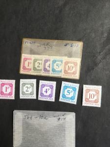 Tristan da Cunha #J6-J10 & J6a-J10a Mint VF-NH Two Diff. Cpl. Sets Wmk. 314 &373