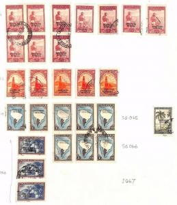 SA1122 ARGENTINA Official Overprint Original Album page from oldtime collection