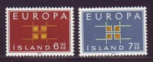 Iceland Sc 357-8 1963 Europa stamps NH