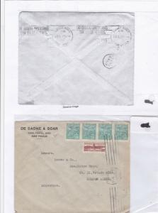 Brazil to buenos aires stamp cover ref 9231