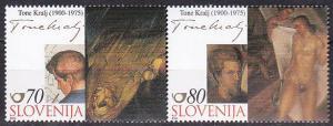 Slovenia 429 2000 Paintings Cpl MNH