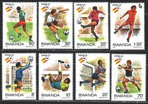 Rwanda. 1982. 1179-86. Soccer World Cup. MNH.