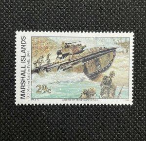 1994 Marshall Islands Stamp SC#495 29c WWII US Marines Land Peleliu , MNH