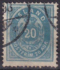 Iceland #17 F-VF  Used CV $50.00 (Z6448)