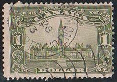 Canada Scott #159 Used Cat. US$80. Partial Edmonton/Alberta 1933 Cancel