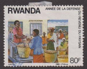 Rwanda 1305 Fruit Market 1988