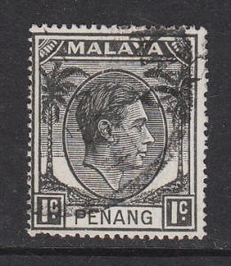 Malaya Penang 1949 Sc 3 1c Used