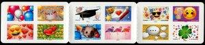 HERRICKSTAMP NEW ISSUES FRANCE Sc.# 5431a Emoji Self-Adhesive Booklet