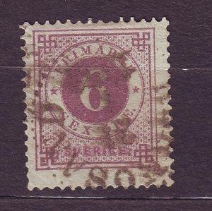 J22821 JLstamps 1886-61 sweden used #44 w/posthorns reverse $62.50 scv