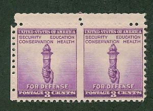 901a  MNH, Imperf Pair,  scv: $22.50