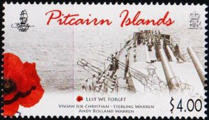 Pitcairn Islands. 2015? $4 Fine Used