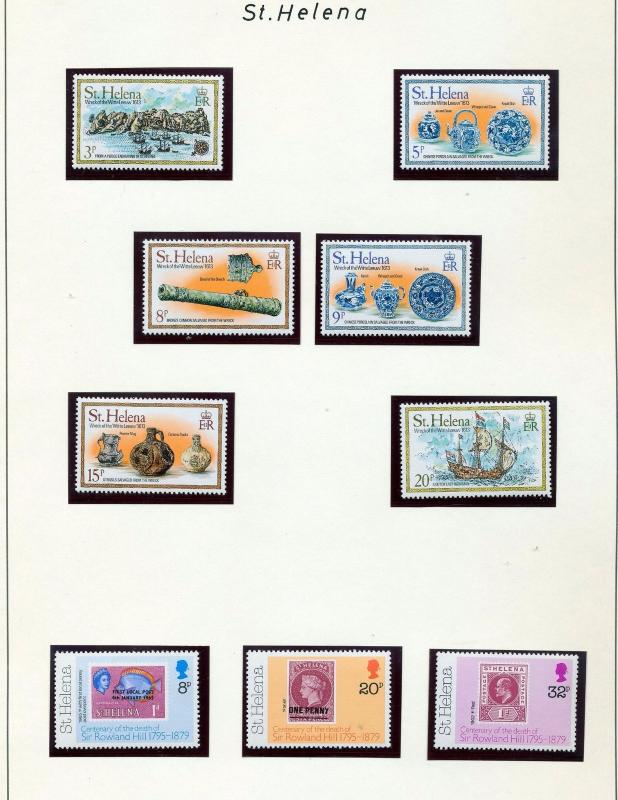 ST HELENA 1979/81 Sheets Shells Royalty MNH (40+) SK 274