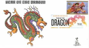 Lunar New Year/Dragon First Day Cover, w/ DCP cancel,  #2