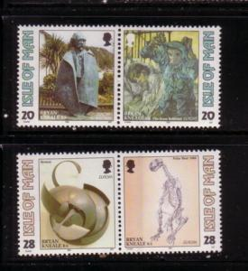 Isle of Man  Sc 558-61 1993 Europa Contemporary Art stamps mint NH
