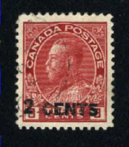 Canada #139  used  VF 1926   PD