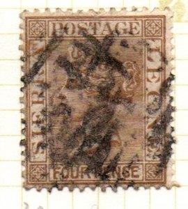 Sierra Leone 30 1884 4d bistre Victoria stamp used