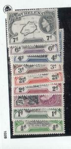 ST HELENA # 140-152 VF-MH QE11 VARIOUS ISSUES TO 10sh CAT VALUE $92+
