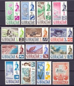 Gibraltar 147 - 160 Set mit 14 Postfrisch Og Kein Fehler Sehr Fein