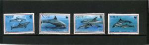 NIUE 1993 Sc#651-654 FAUNA DOLPHINS SET OF 4 STAMPS MNH