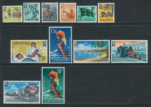 1961 Tanganyika Scott 45-56 Definitives MNH