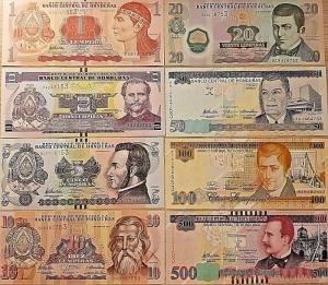 C) HONDURAS BANK NOTES 6PC SET UNC ND 2008 - 2012