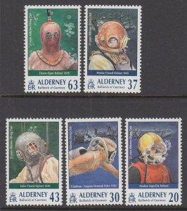 Alderney 114-118 Divers MNH VF