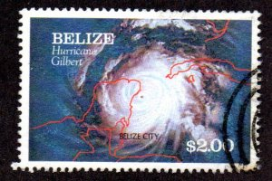 BELIZE 974 USED SCV $4.75 BIN $1.90 WEATHER