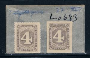 Liberia 27 Unused pair Numeral perf-imperf 1885 (L0693)