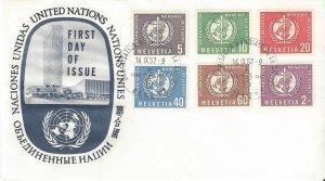 Switzerland 5o26-5o28, 5o31, 5o33-4   FDC World Health Organization